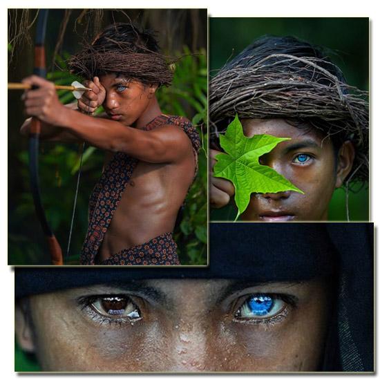 Tribo com Olhos Azuis Elétricos Img 2