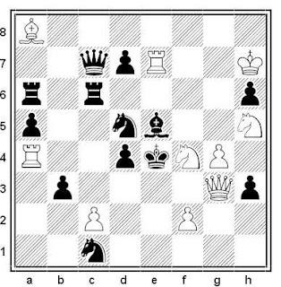 Problema de mate en 2 compuesto por Gerhard Paul Latzel (1º Premio, Die Schwalbe 1944)