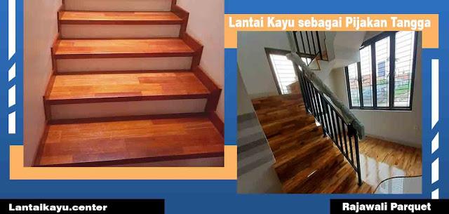 lantai kayu papan tangga kayu