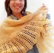 Chal Manta circular a Crochet
