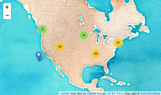 Making Dynamic HTML Maps with Leaflet