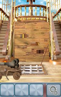 Орудие на колесах на палубе