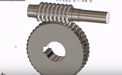 How to create sketch Worm gear Animation in Solidworks Design