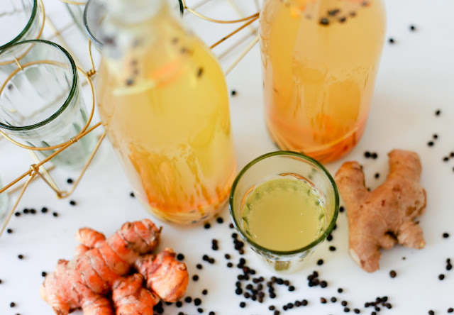 Ginger, Turmeric and Black Pepper Kombucha Tea - Second Fermentation