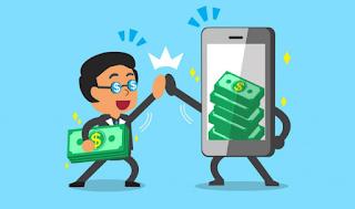 Aplikasi android penghasil uang tercepat terbaik