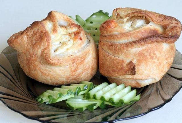 Пирожки слоёные рецепт-фото