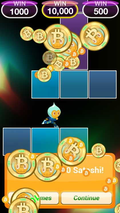 Get bitcoins for playing games in your mobile