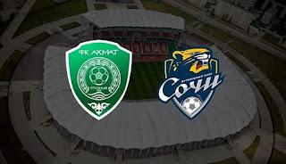 Ахмат — Сочи: прогноз на матч, где будет трансляция смотреть онлайн в 19:00 МСК. 12.09.2020г.
