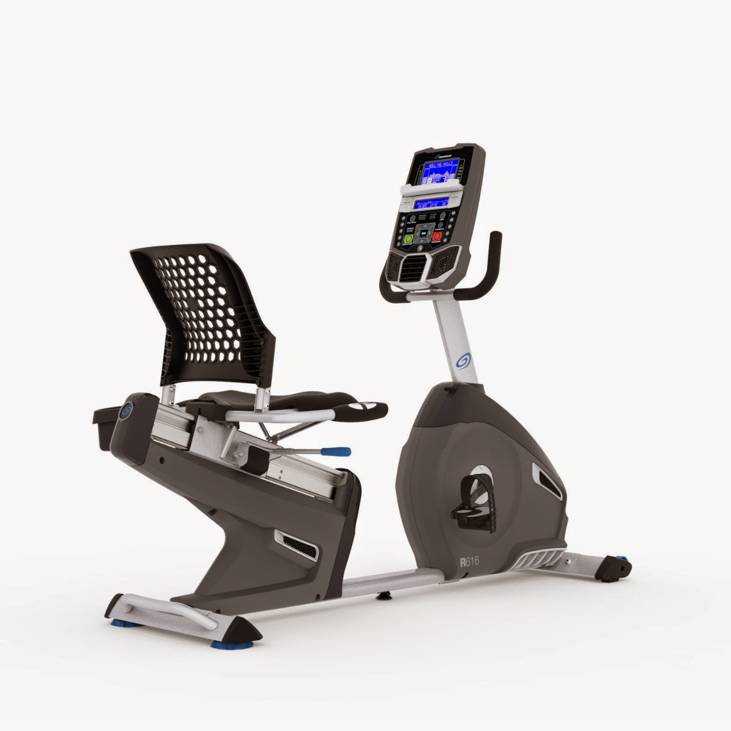 Nautilus R616 Recumbent Exercise Bike, review features and compare with Nautilus R614, 29 workout programs, 25 resistance levels