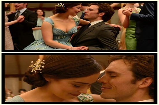 Will e Lou no casamento da ex dele