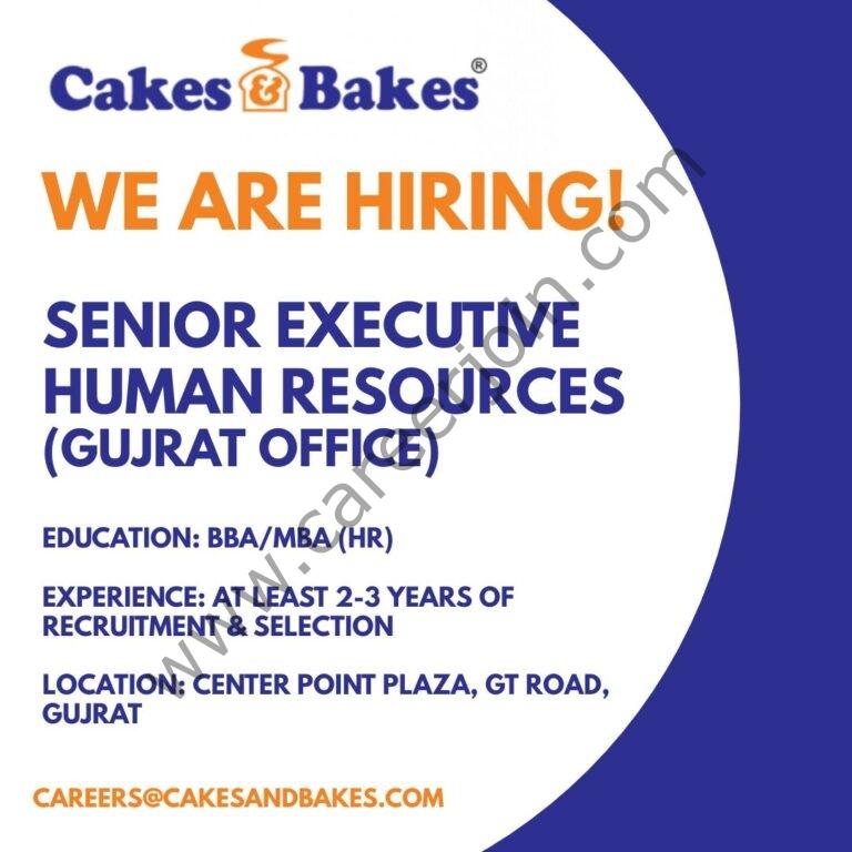 Cakes & Bakes Pakistan Jobs Senior HR Executive