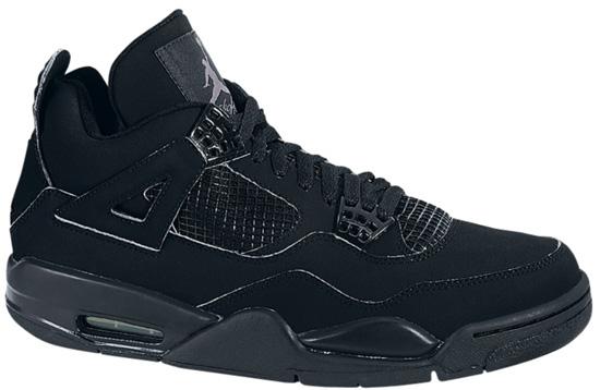 1a7bb5a8528c02 Air Jordan 4 Retro (05 20 2006) 308497-002 Black Black-Light Graphite