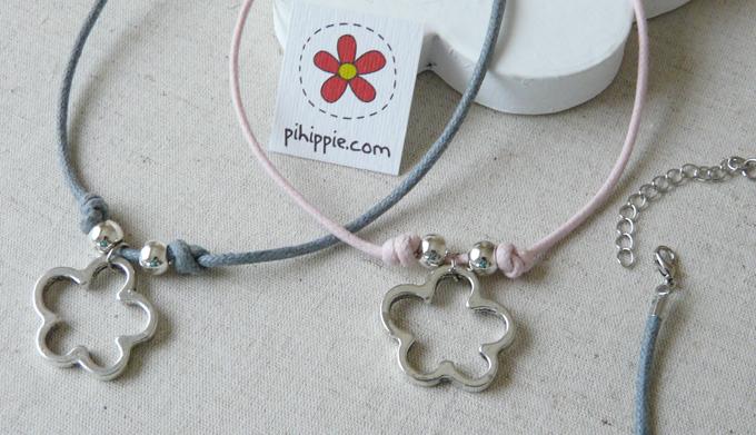 Regalos Comuniones collar gragantilla colores flor original