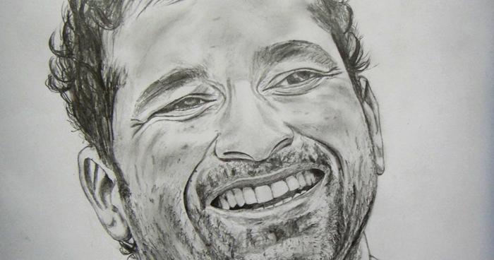Sourcewing: Sachin Tendulkar pencil sketch - Double ...