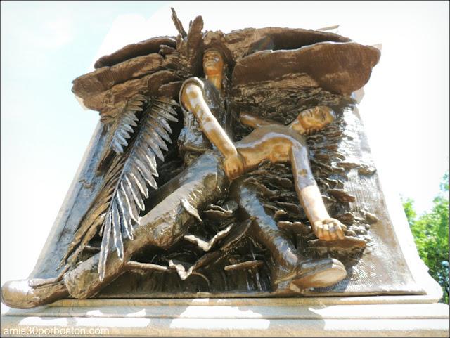Vietnam Veterans Memorial en el Academy Park de Albany