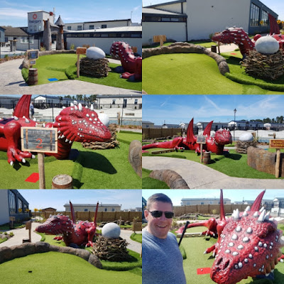 Dragon's Quest Mini Golf at Fontygary Leisure Park in Wales