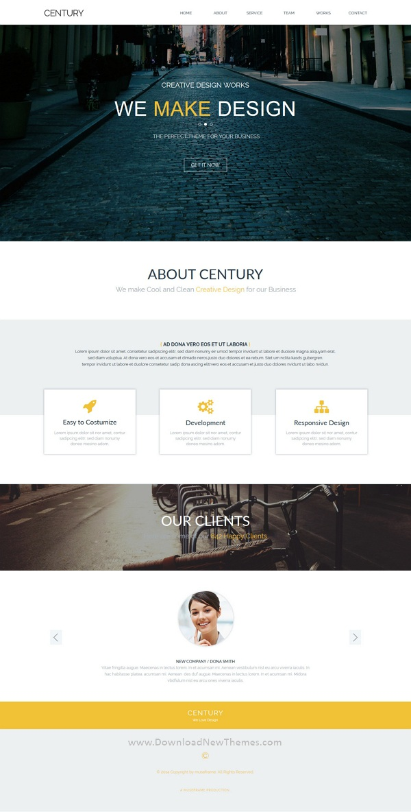 Agency Multi Page Muse Template