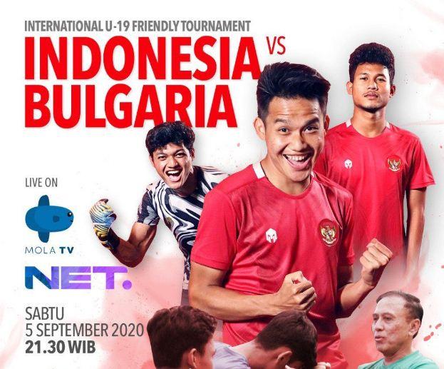 Live Streaming Timnas Indonesia U-19 vs Bulgaria