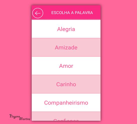 ESCOLHA UMA PALAVRA PRA COMPARTILHAR