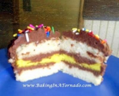 Triple Layer Cupcakes | Recipe developed by www.BakingInATornado.com | #recipe #dessert