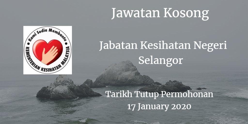 Jawatan Kosong JKN Selangor 17 January 2020