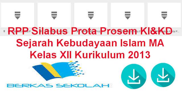 RPP Silabus Prota Prosem KI&KD SKI MA Kelas XII Kurikulum 2013