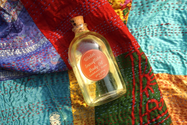 The Herb Boutique Winter Snowflake Body Oil Sandalwood, Orange, Ylang Ylang Review India