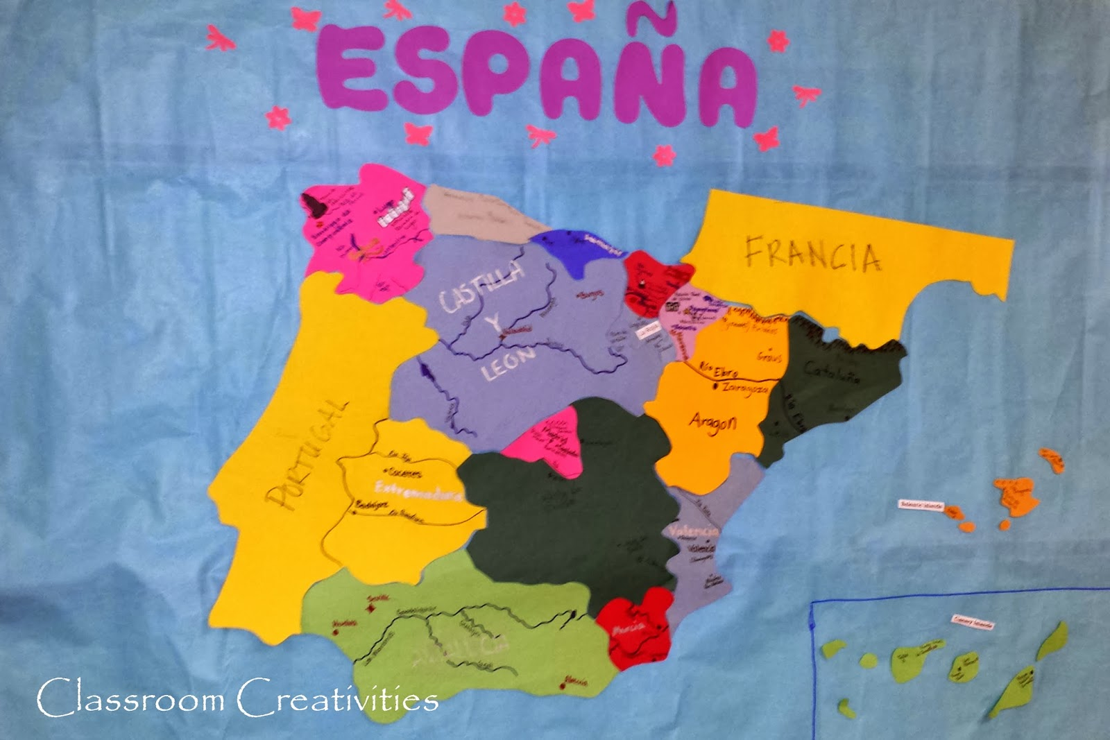 Spain Map For Kids