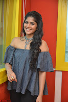 Mega Akash in a sleeveless Off Shoulder Cute Dress Stunnign beauty at Radio Mirchi Promoting Movie LIE ~ Celebrities Galleries 058.JPG