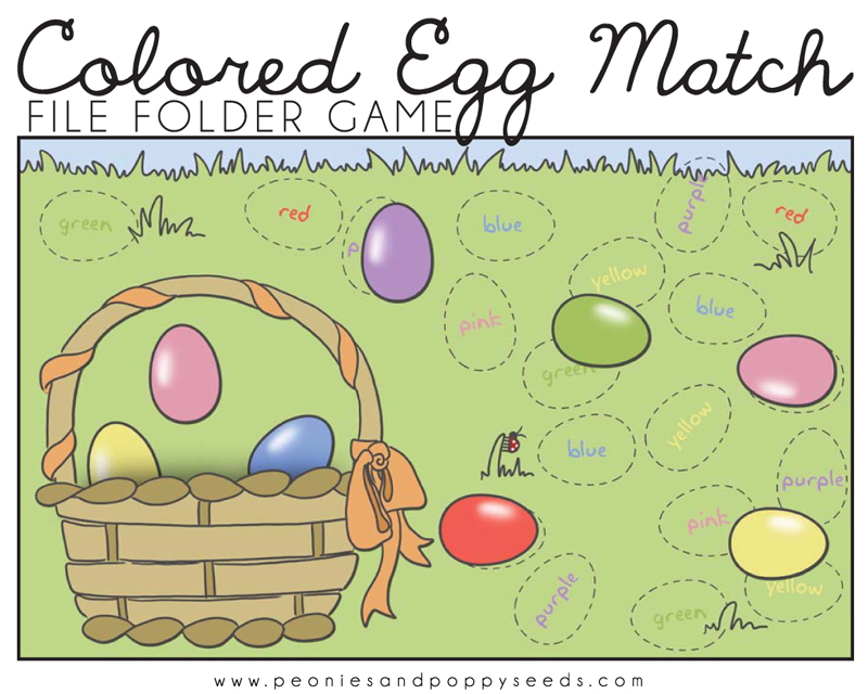 photograph about Printable File Folder Game called Coloured Eggs Game Printable Report Folder Recreation Dorky Doodles