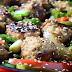 Garlic Pork Meatball Stir Fry Recipe
