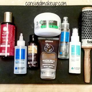 Haircare Routine Ecobio idrolato rinforzante prodotti naturali