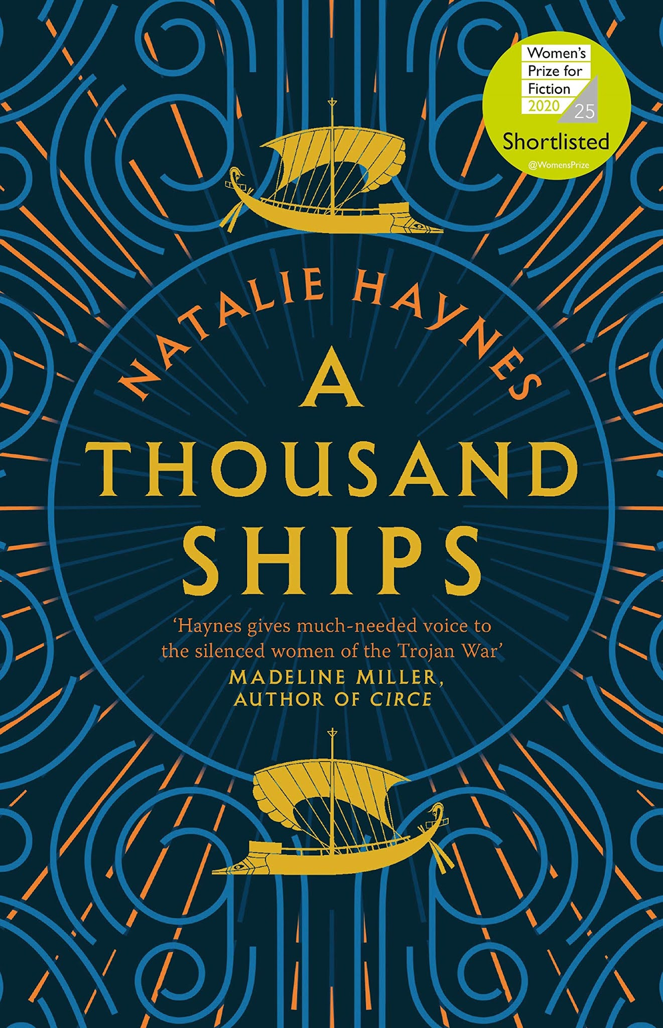 Book cover for A Thousand Ships by Natalie Haynes A Thousand Ships in the South Manchester, Chorlton, Cheadle, Fallowfield, Burnage, Levenshulme, Heaton Moor, Heaton Mersey, Heaton Norris, Heaton Chapel, Northenden, and Didsbury book group