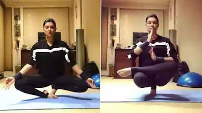 Sushmita Sen balanced her body on toes