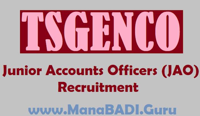 TS Jobs, TS Recruitment, TSGENCO JOBS, TSGENCO JAO Posts, Junior Accounts Officers (JAO) Jobs, Telangana State Power Generation Corporation Limited