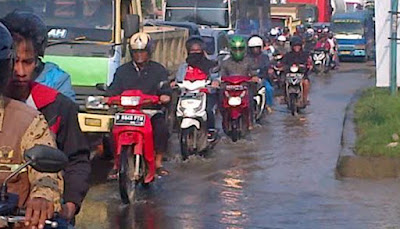 Sejumlah Kecamatan di Bekasi Kebanjiran