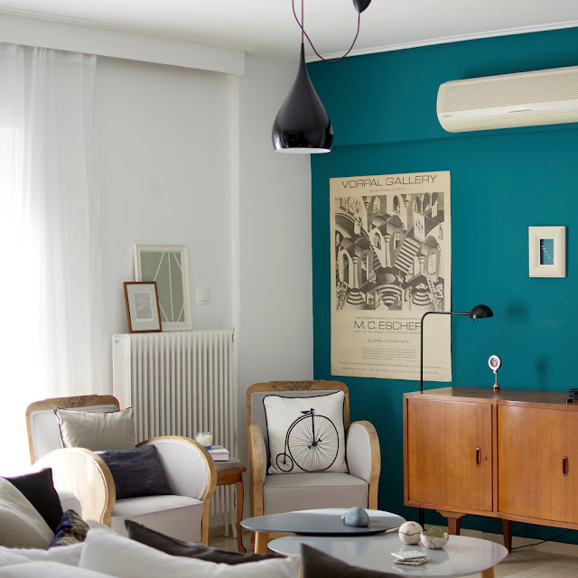 dark teal wall • the round button blog