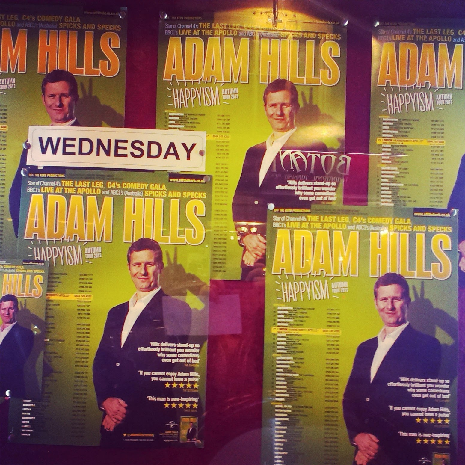 Adam Hills Happyism Tour Posters