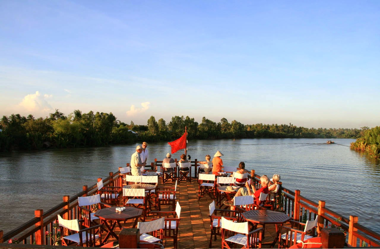 Tour Mekong - 2 ngày 1 đêm - ngủ đêm trên tàu Mekong Eyes