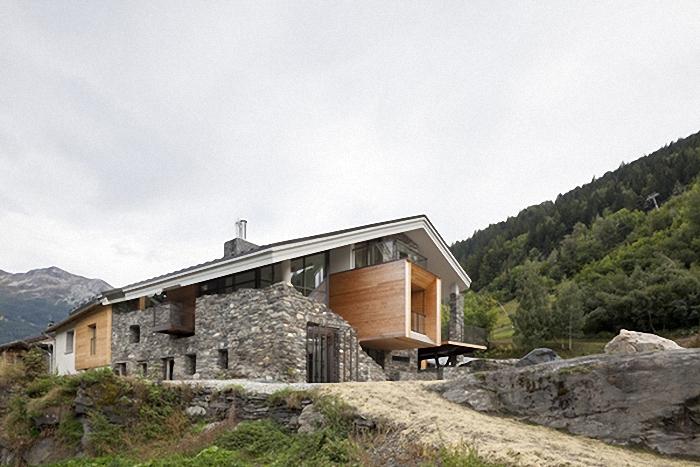 Hogares frescos casa en la monta a inspirada por el paisaje - Casas en la montana ...