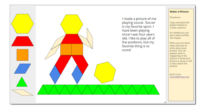 Time to talk tech pattern block templates in google drawings by picture on eric curts blog pronofoot35fo Choice Image