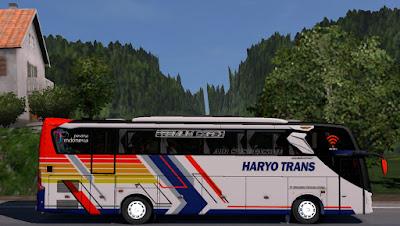 Livery Haryo Trans for Jetbus 3+ SHD HINO RK8 Adudu Cvt Diny V1 by Fayaz