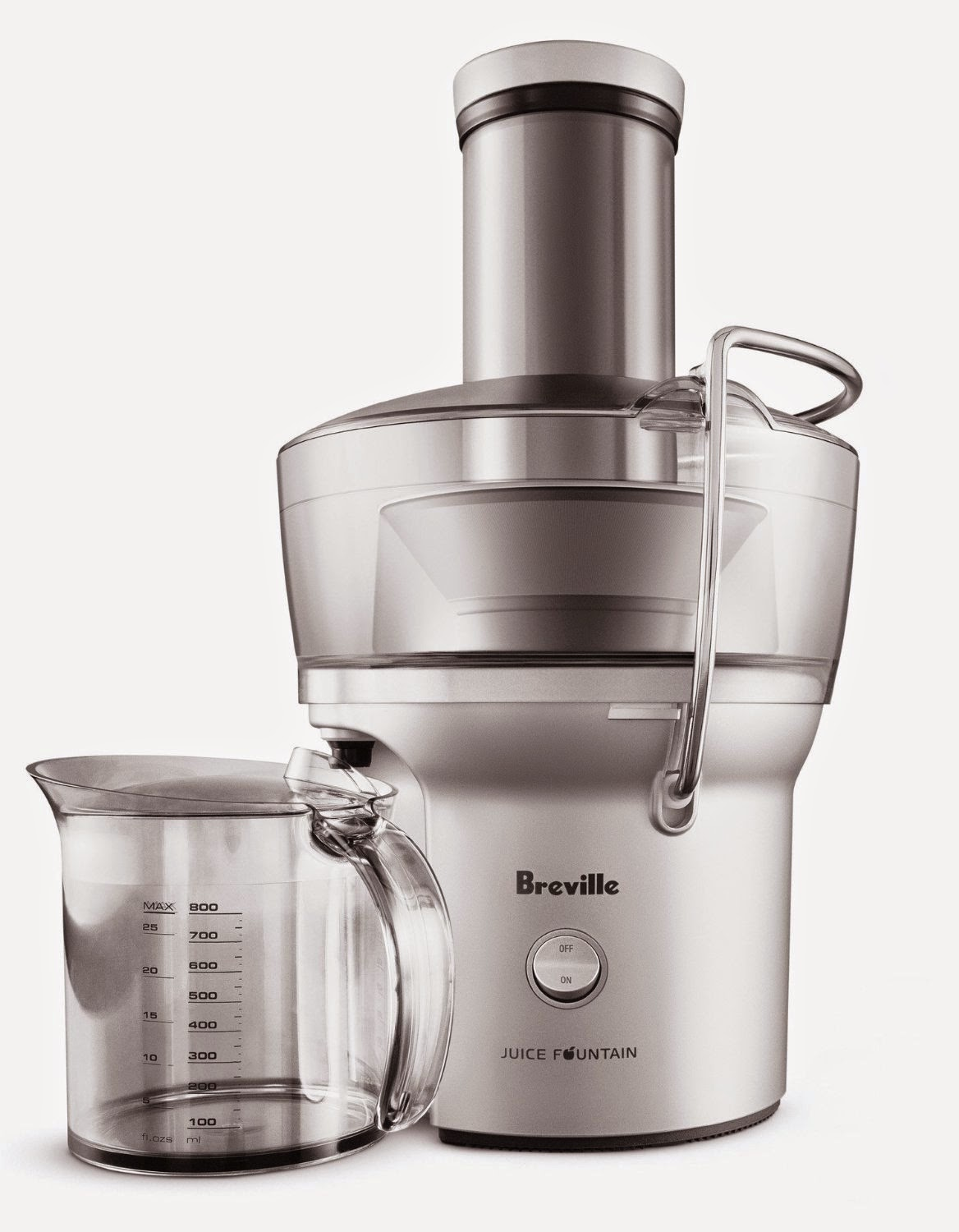 Breville BJE200XL Compact Juice Fountain, powerful and heavy-duty, takes just 5 seconds to extract an 8 ounce glass of juice