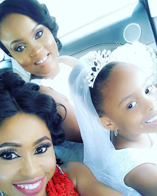 More photos from Blossom Chukwujekwu's white wedding in Lagos