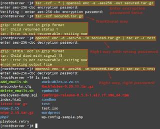Cách mã hóa, giải mã các tập tin và thư mục bằng Tar và Open SSL