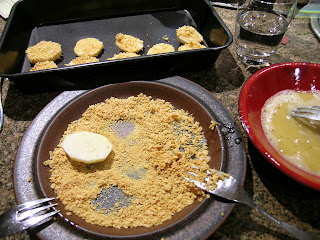 Dip Potatoes in Egg And Then Coat With Corn Flakes
