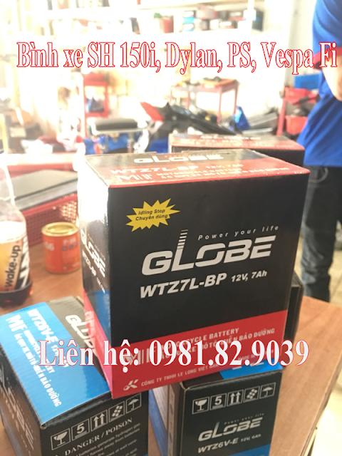 Thay bình ắc quy xe máy Vespa Sprint tại TpHCM
