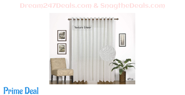 BERYHOME Text Linen Semi-SheerCurtains 60% OFF