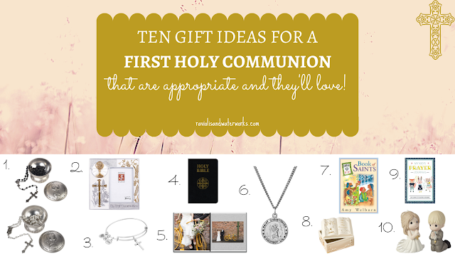 ten gender neutral gifts ideas for a holy first communion