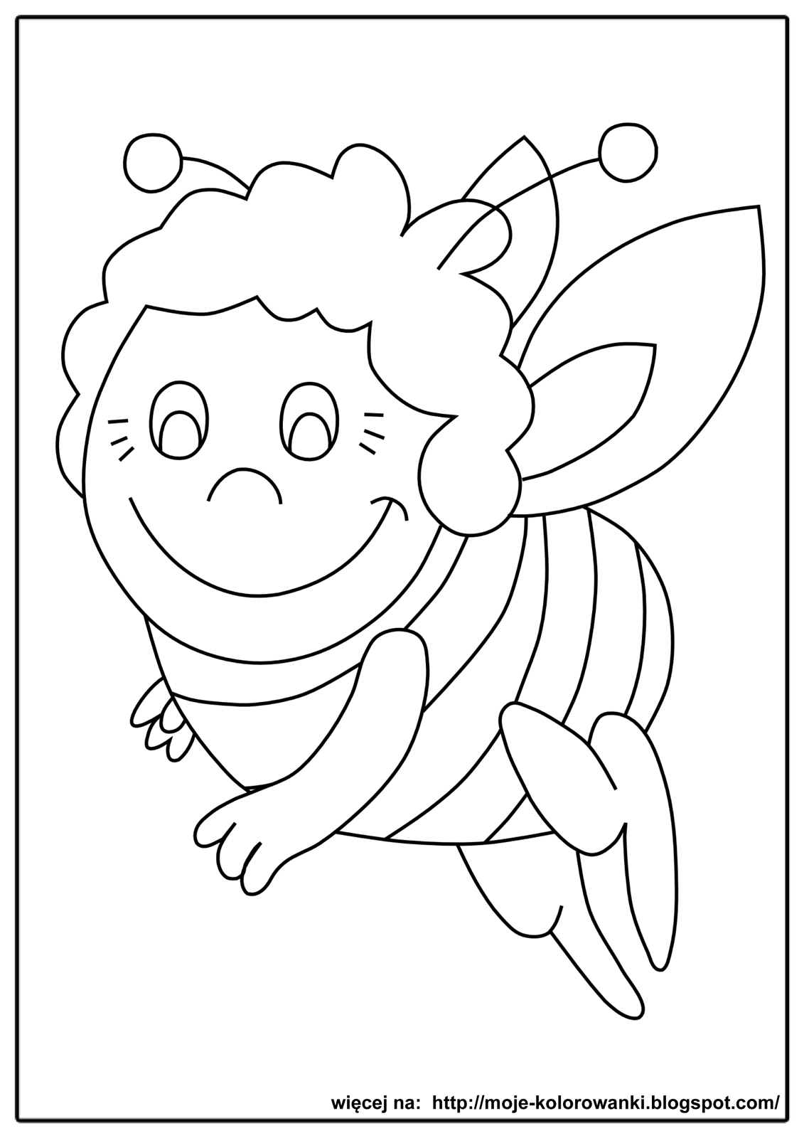 Kolorowanki Dla Dzieci Pszczolka Maja